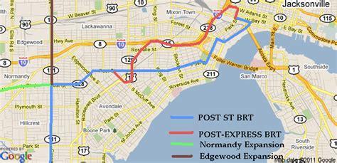 ucr cus map brt coming to blanding boulevard metro jacksonville