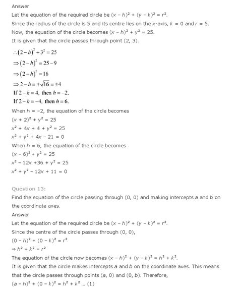 conic sections class 11 ncert solutions for class 11th maths chapter 11 conic