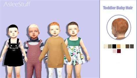 cc hair sims 4 baby hey everyone i m so happy to share my toddler aslee