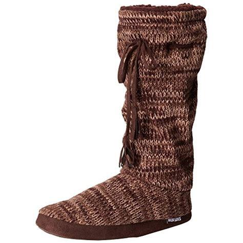 bootie slippers muk luks 8747 womens fleece lined mid calf bootie slippers