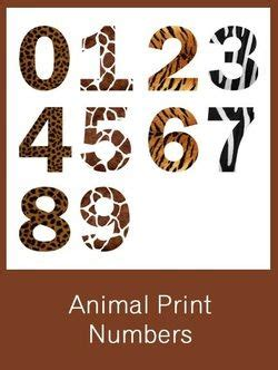 letters in the alphabet animal print numbers free pdf safari 1459
