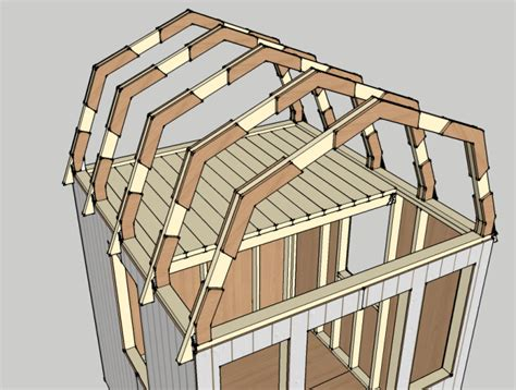 how to build a barn style roof gambrel tiny house design