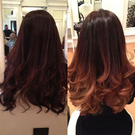 hairstyles after ombre great before and after ombre hair hair styles cuts