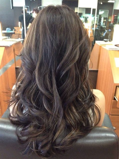 how to do ash ombre highlight on short hair ash brown and violet highlights hairstyles pinterest