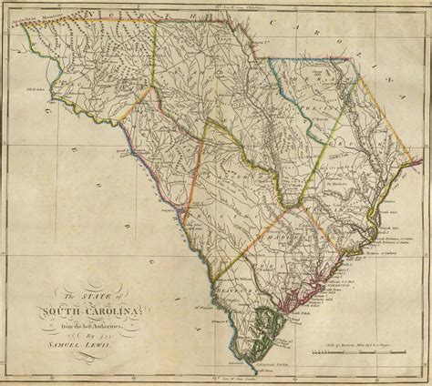 south carolina map historical city county and state maps of south carolina