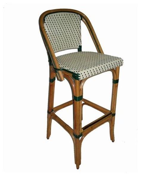 Window Seats Furniture - trocadero rattan bar stool black or green mediterranean bar stools and counter stools by