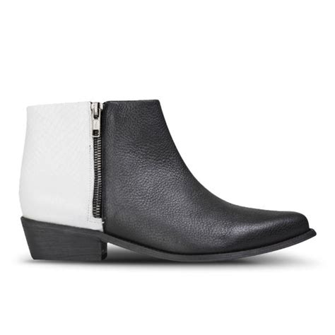 Kickers Boots White Sol sol sana s joey leather ankle boots black white