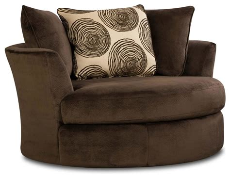 Chelsea Rayna Swivel Chair In Groovy Chocolate Big Swirl Chocolate Swivel Chair
