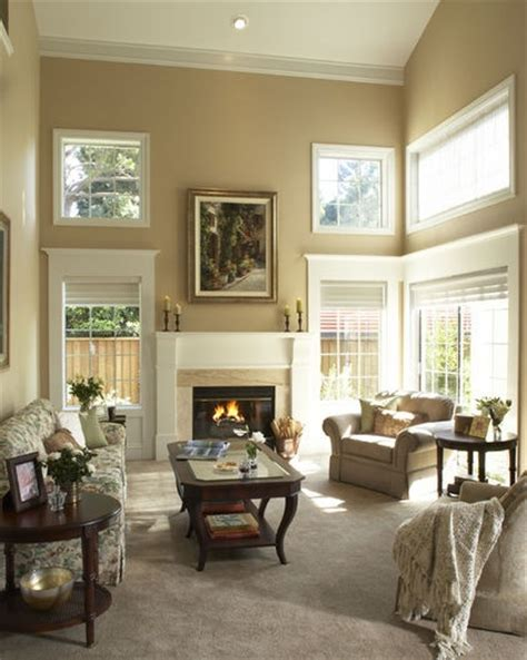 Two Story Living Room Great Window Trim Beautiful Home Paint Colors For High Ceiling Living Room