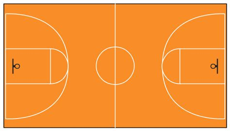 outdoor basketball court template basketball court template dimensions cliparts clipartpost