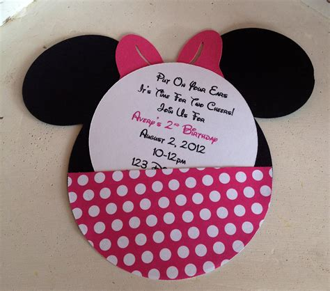 minnie mouse template invitations minnie mouse invitation template
