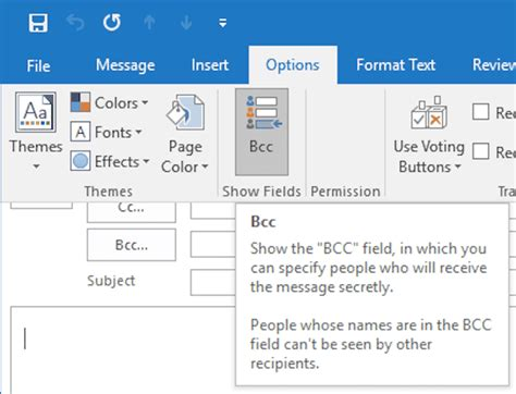 in bcc how to add bcc recipients in outlook