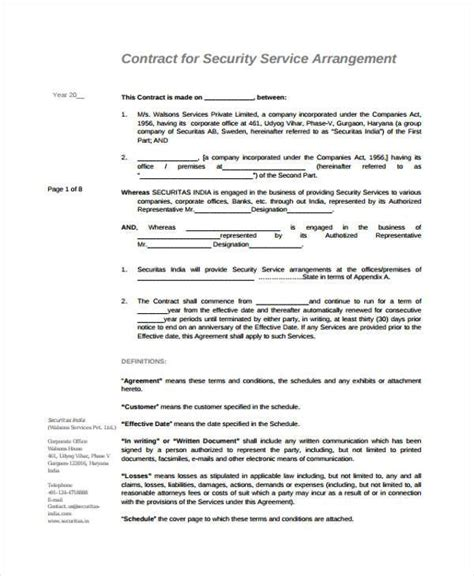 sle service contract agreement forms 6 free