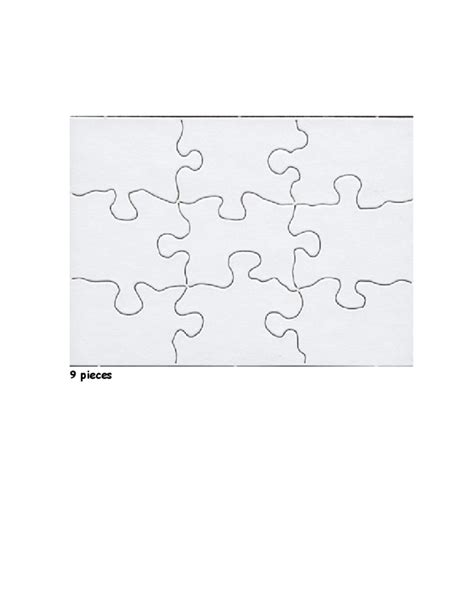 Blank Jigsaw Puzzle Template Free Download Free Puzzle Template