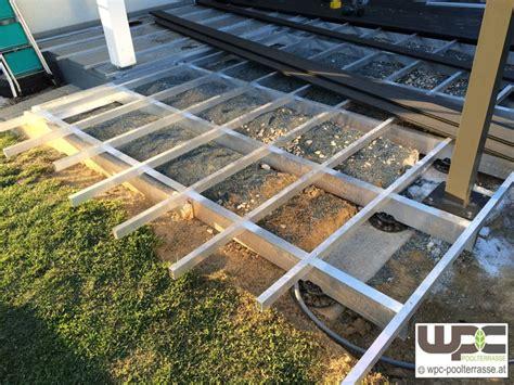 terrasse untergrund bilder wpc aluminium alu unterkonstruktion f 252 r