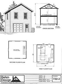 2 story floor plans with garage two story 1 car garage plan 722 2 by behm design has