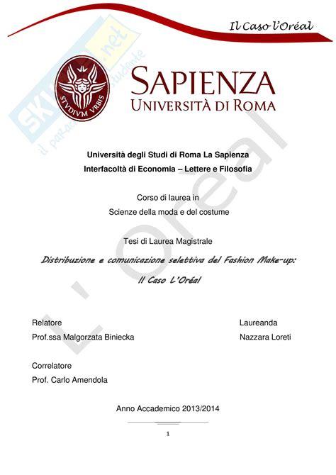 tesi laurea magistrale tesi di scienze della moda