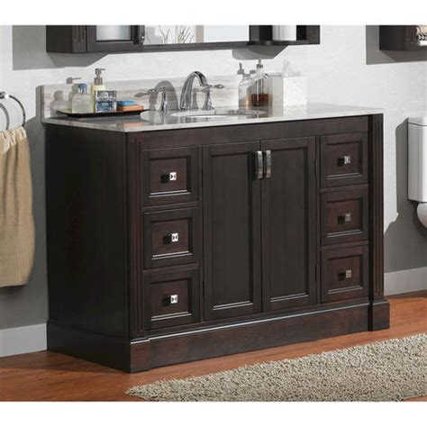bathroom vanities at menards magick woods 49 quot wellington collection vanity base