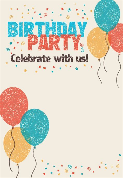Free Printable Celebrate With Us Invitation Great Site For Invitations From Birthday Parties Free Printable Birthday Invitation Cards Templates