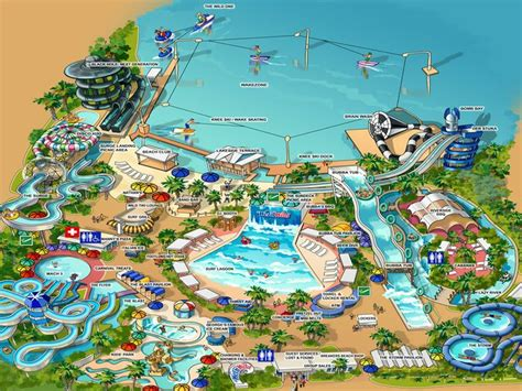 map of us water parks n water park map yboa basketball c usa