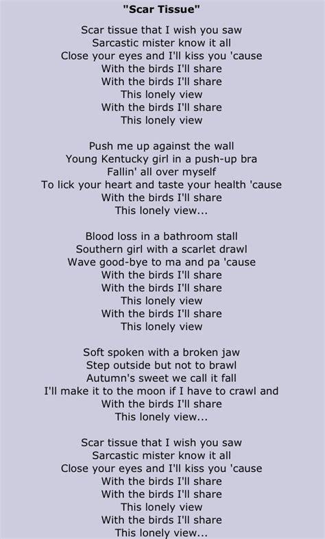 scar tissue testo scar tissue chili peppers lyrics lyrics