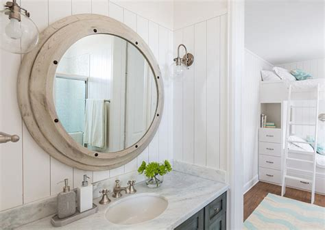 beach house bathroom mirrors beach house with turquoise interiors home bunch interior