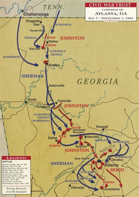 map of atlanta during civil war atlanta caign civil war trust