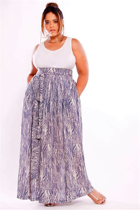 jibri plus size high waist printed maxi skirt by jibrionline