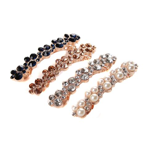 hair barrettes clips women crystal hairclips barrette hair accessories fashion women girls elegant crystal rhinestone barrettes