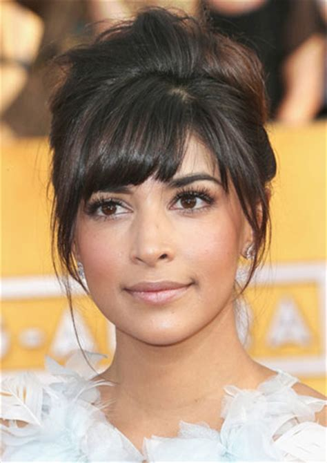 wedding hairstyles with across bangs s bouffant updo at the 2014 sag awards