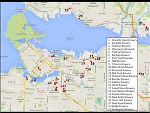 brewery map updated vancouver brewery map the hoppy ending