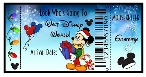 looking 4 disneyworld tickets to put under the christmas