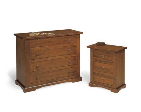 gruppo 1 como toscano in legno e 2 comodini in legno arte