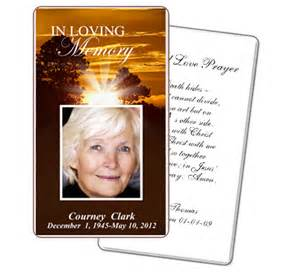 5 best images of free printable funeral prayer cards