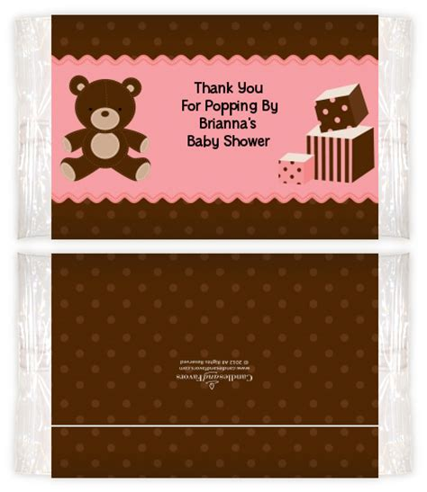 Baby Shower Popcorn Wrappers by Teddy Pink Baby Shower Popcorn Wrappers Baby Shower