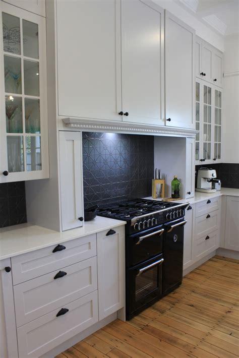 Kitchen Glass Cabinets brisbane kitchen design gizeh st grey shaker style kitchen