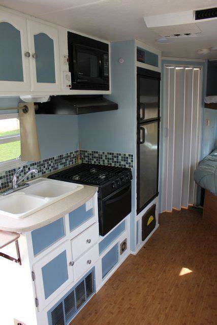 tiny kitchen remodel the reveal of our rv kitchen renovation 17 best images about small cer cabinets love the and