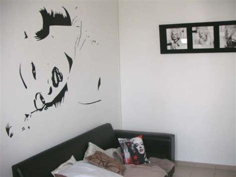 Decoration Murale Noir Et Blanc by D 233 Co Murale Marilyn Peintures Murales Portraits