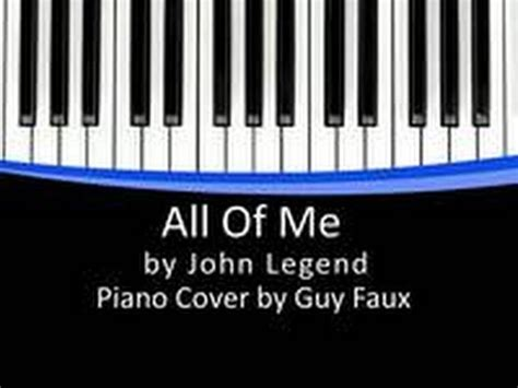 tutorial piano john legend all of me all of me john legend piano cover overhead tutorial