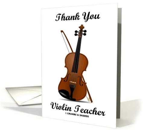 Thank You Letter To Violin Thank You Violin Violin With Bow Card 863989
