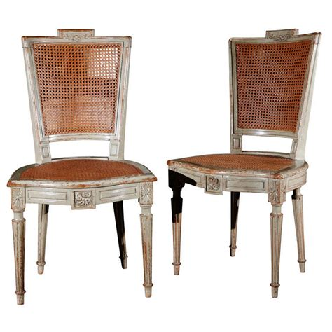 Suite Of Eight Antique Louis Xvi Style Painted Dining Painted Dining Chairs For Sale