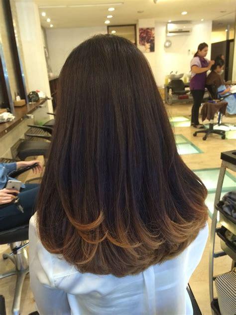 brown hair model warna rambut highlight