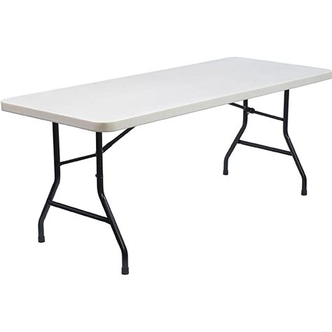 Folding 6 Foot Table Nps Commercialine 6 Foot Plastic Top Folding Table Overstock Shopping The Best Prices On