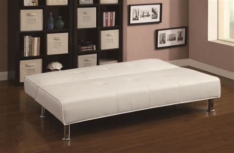 Coaster 300296 White Leather Sofa Bed Steal A Sofa White Leather Sofa Beds