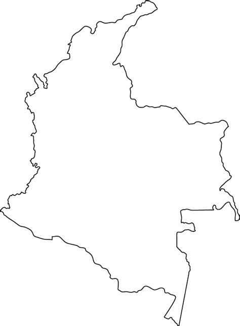 outline map geography colombia outline maps