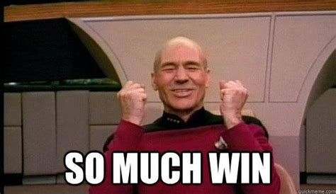 Captain Picard Meme - so much win picard wins quickmeme