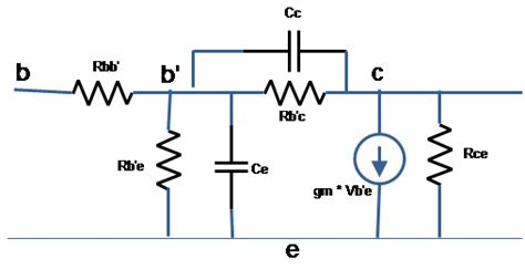 bipolar transistor hybrid pi model high frequency hybrid pi or giacoletto model of bjt ece tutorials