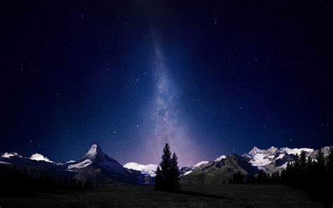 swiss alps night sky wallpapers hd wallpapers id