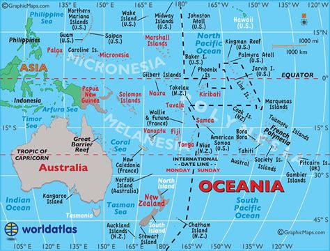 map of oceania large map of australia and oceania easy to read and printable