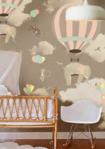 Nursery Decor Wallpaper Colored Wallpapers For Children S Room With Motifs Fresh Design Pedia